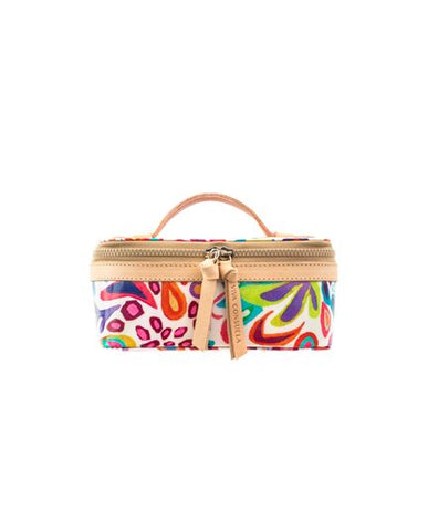 WHITE SWIRLY MINI TRAIN CASE