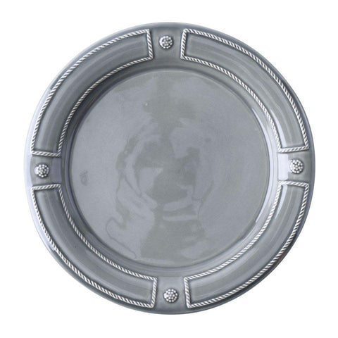 French Panel - Stone Grey Dinner Plate