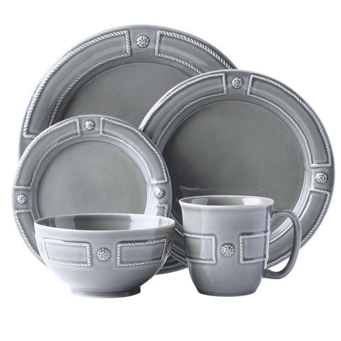 French Panel - Stone Grey 5pc Place Setting
