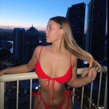Load image into Gallery viewer, VERNAZZA BIKINI TOP - RED