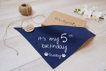 Load image into Gallery viewer, Personalised Birthday bandana