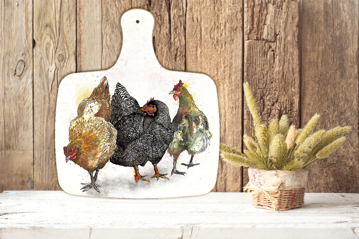 Hens - Chopping Board Large