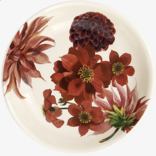 Flowers Red & Pink Dahlias Medium Pasta Bowl