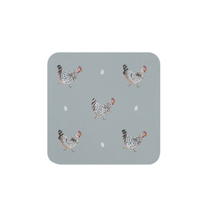 Coasters (Set of 4) - Chicken