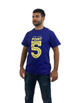 Blue Point 5 T-shirt with Yellow Logo