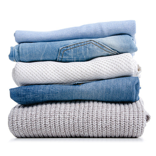 Stacked pile of clothing