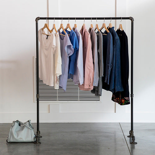 Clothes Mentor clothing rack of clothing