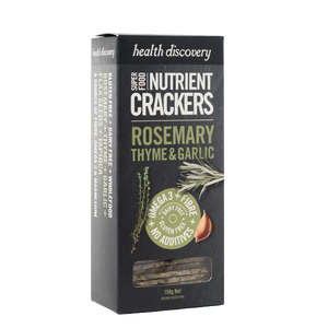 Nutrient Crackers Rosemary, Thyme & Garlic, Gluten Free, Dairy Free