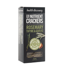 画像をギャラリービューアに読み込む, Nutrient Crackers Rosemary, Thyme & Garlic, Gluten Free, Dairy Free