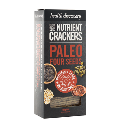 Nutrient Crackers Paleo Four Seeds, Gluten Free, Dairy Free, Wholefood
