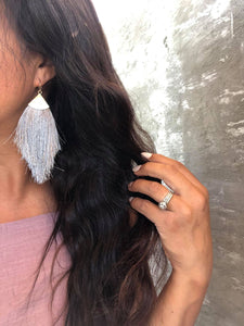 Ash Fringe Tassel Earrings