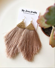 Load image into Gallery viewer, Champagne Fringe Tassel Earrings