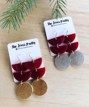 Load image into Gallery viewer, Cranberry Daybreak Earrings