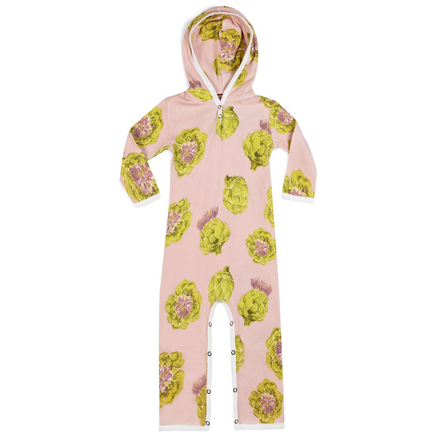 Artichokes Hooded Rompers 6-12