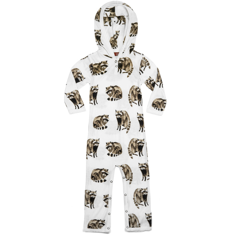 Raccoon Hooded Romper