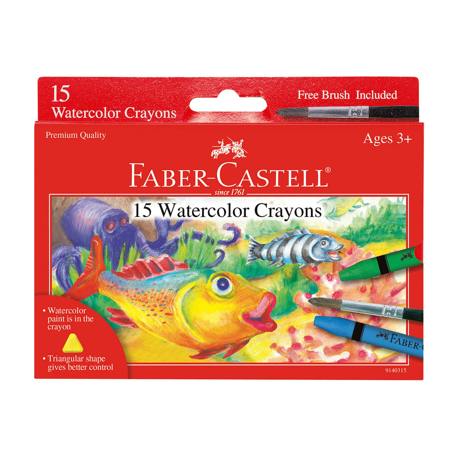 15ct  Watercolors Crayons