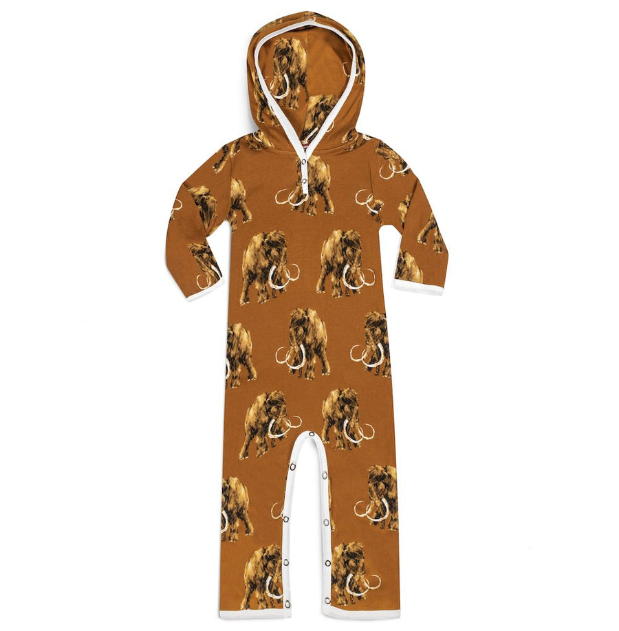 Woolly Mammoth Hooded Romper