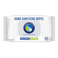 4/6/12/or 24 Pack of  80 Ct Hand Sanitizing Wipes