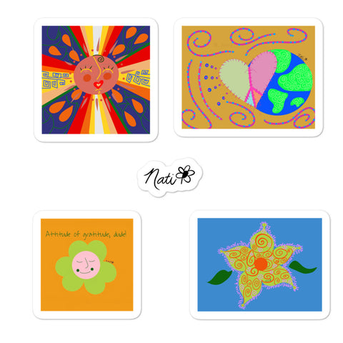 Sun Burst + Peace On Earth Sticker Pack
