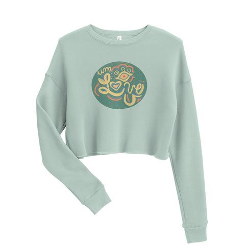 Um...Eye Love U Crop Sweatshirt
