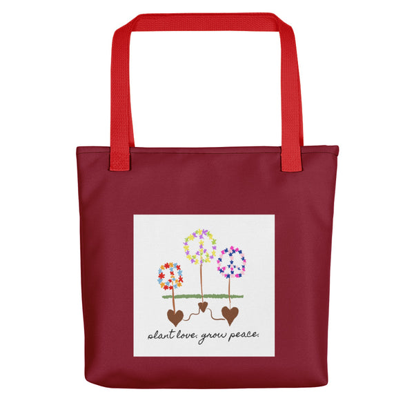 Plant Love Grow Peace Tote Bag