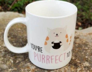 "Taza ""You're purrfect to me"""