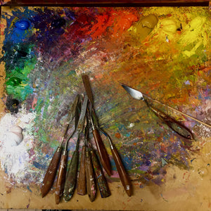 Video: The Demonstration of Landscape Oil Painting with Palette Knife