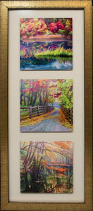 "set of metal prints with frame 15"" x 33"""