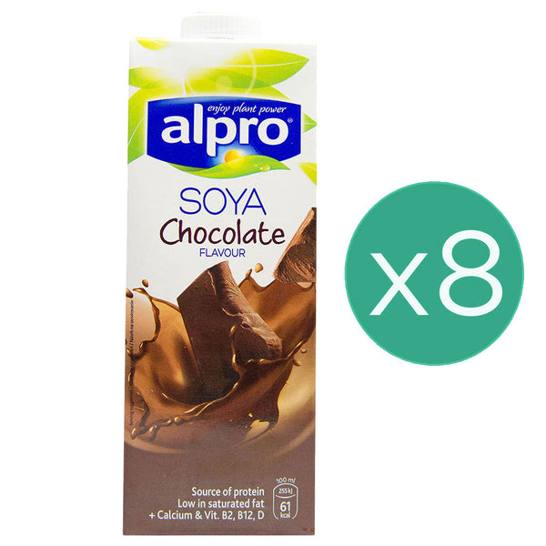 Alpro Chocolate Milk 1L x 8
