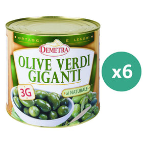 Demetra Giant Green Olives 2.5Kg x 6