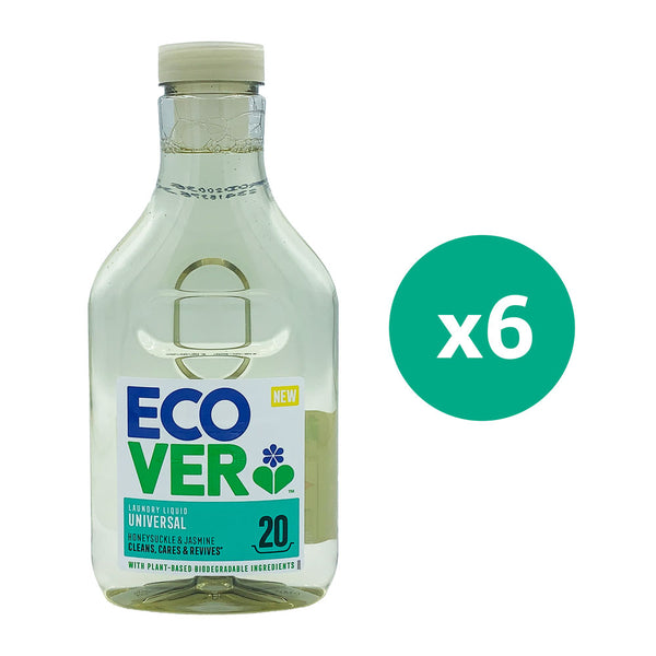 Ecover laundry liquid Universal 1Ltr x 6