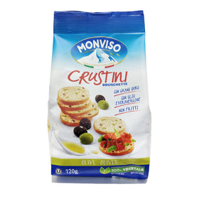 Monviso Bruschette Green & Black Olives 120Gms