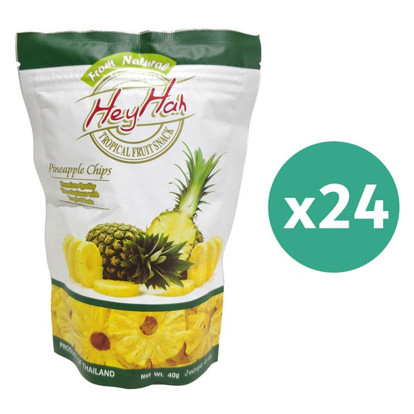 Hey Hah Pineapple Chips 40Gms x 24
