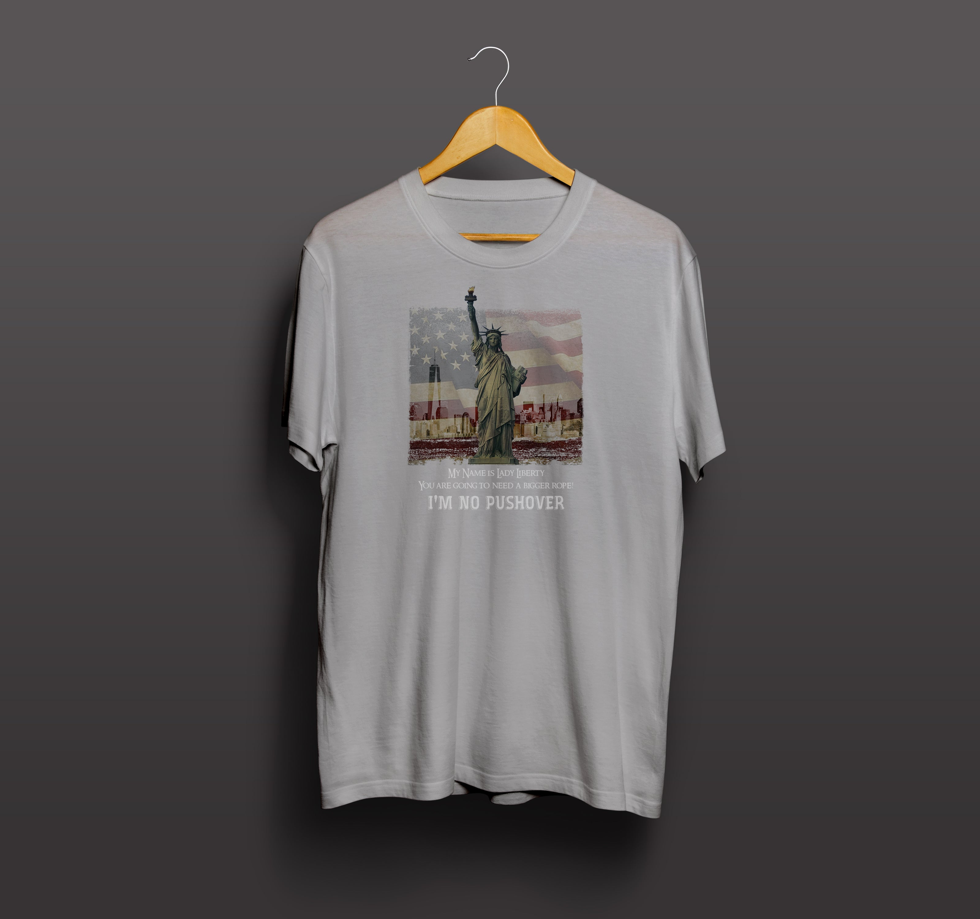 Statue of Liberty T Shirt (Grey)