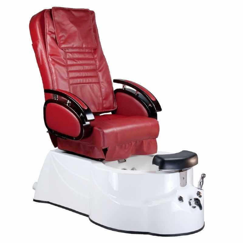 Behandelstoel Massage Pedi Spa BR-3820D Bordeauxrood