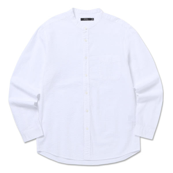 SPAO Man Long Sleeve Seersucker Shirt SPYW725M19