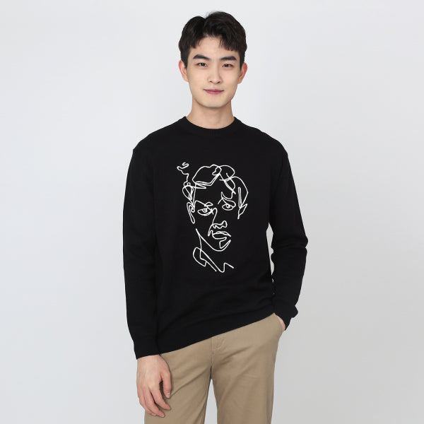 SPAO Men Long Sleeve Graphic Sweater SPKW923M10