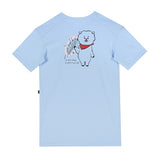 SPAO Unisex Short Sleeve Oversized Tee SPRL937G73 Light Blue