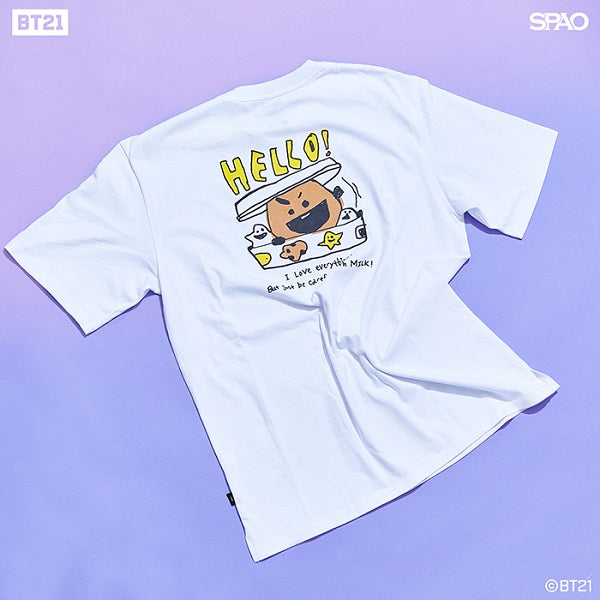SPAO Unisex Short Sleeve BT21 Tee SPRL937C71 Off White