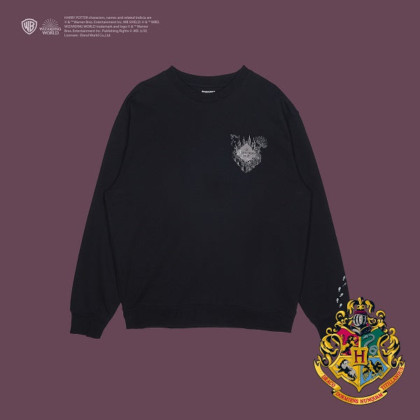 SPAO Unisex Long Sleeve Harry Potter Pullover SPMB94VC02 Black