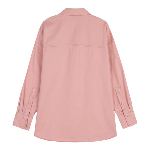 SPAO Woman Long Sleeve Cotton Loose Fit Blouse SPYWA11G02