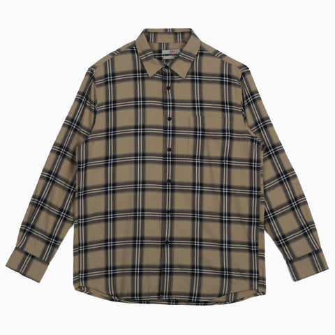 SPAO Man Long Sleeve Check Shirt SPYCA11C01
