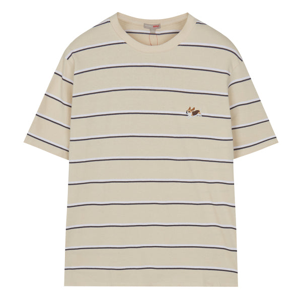 SPAO Man Short Sleeve Embroidery Stripe Tee SPRSA24C20