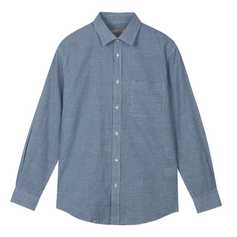 SPAO Man Long Sleeve Linen Stripe Shirt SPYSA25C32