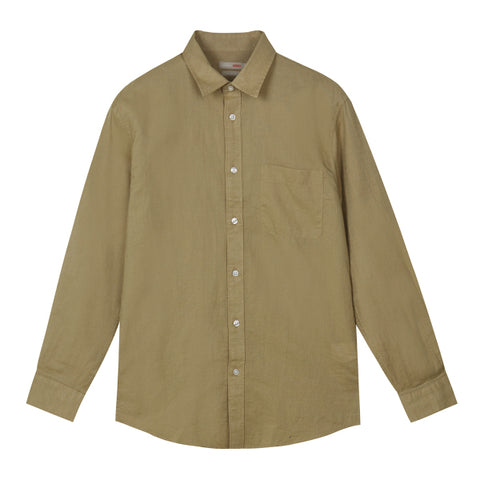 SPAO Man Long Sleeve Linen Shirt SPYWA25C30