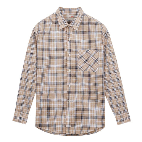 SPAO Men Long Sleeve Summer Check Shirt SPYCA25C35