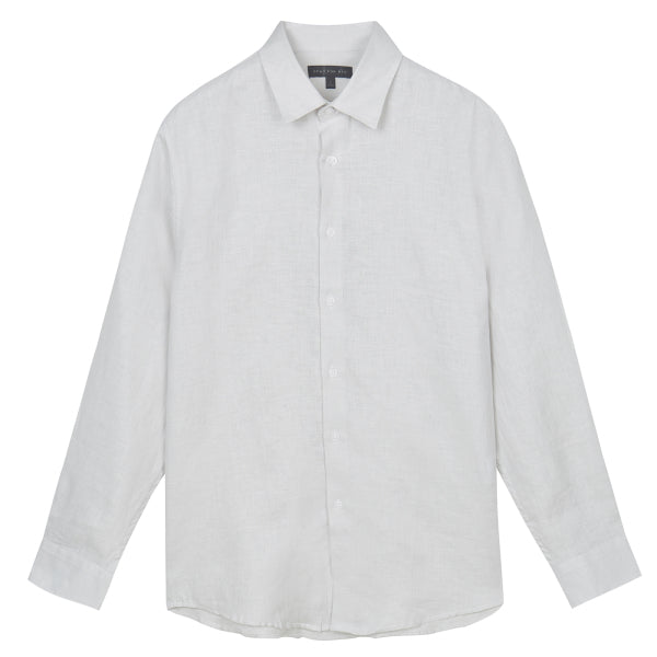 SPAO Men Long Sleeve Pure Linen Shirt SPYAA24M12