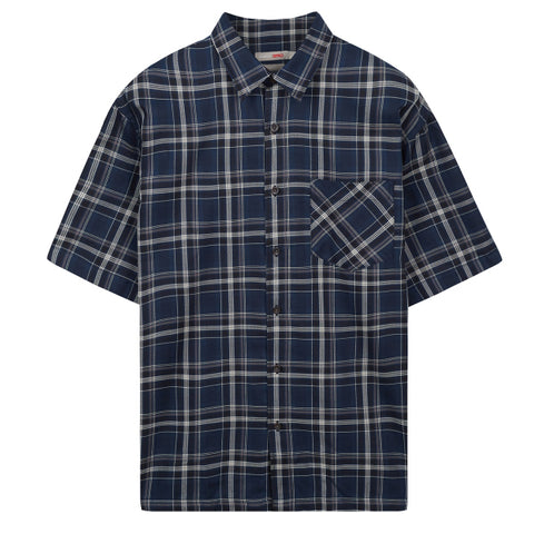 SPAO Men Short Sleeve Summer Check Shirt SPYCA26C43
