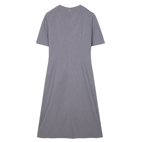 SPAO Woman Short Sleeve V Neck Long Dress SPOWA24G73