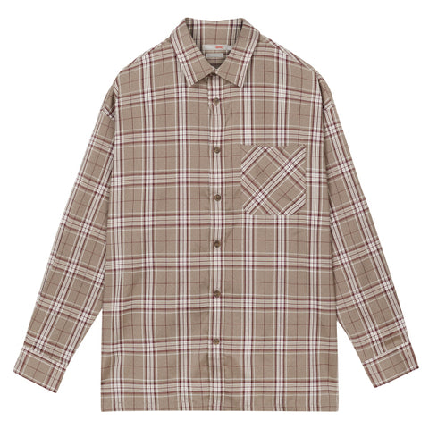 SPAO Men Long Sleeve Span Check Shirt SPYCA38C11